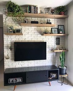 Minimalist home Best Farmhouse Living Room TV Wanddekoration Ideen Living Room Tv Unit, Home Interior, Home Living Room, Interior Design Living Room, Living Room Designs, Living Room Ideas Tv Wall, Best Interior Design, Tv Wall Decor, Wall Decorations