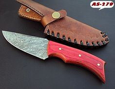 DAMASCUS CUSTOM HAND MADE BEAUTIFUL SKINNER KNIFE COLOR DOLLAR WOOD HANDLE. #BestSteelWarrior