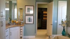 Master bathroom with huge closet!