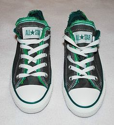Women's Converse All Star Sneakers Size 6 Charcoal & Green New with Tags Starting Bid $17.99