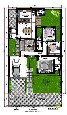 Courtyard House Plans, House Floor Plans, Indian House Plans, Architectural Floor Plans, Building Layout, Types Of Architecture, Park Landscape, Isometric Design, Family House Plans