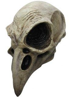 Masque de Squelette corbeau