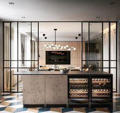 Modern classic on Behance Best Home Interior Design, Home Room Design, Cafe Interior, Kitchen Interior, Kitchen Design, Interior Decorating, Interior Doors, Interior Ideas, Kitchen Soffit