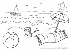 Summer Coloring Pages Kindergarten Coloring Pages