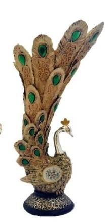 """Peacock Statue/ Vase With """"bejeweled"""" Feathers  $19.95 www.AllThingsPeacock.com"""