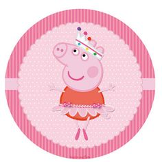 Kit Imprimible GRATIS Peppa Pig Bailarina Bolo Da Peppa Pig, Cumple Peppa Pig, Third Birthday, Unicorn Birthday, Peppa Pig Images, Peppa Pig Funny, Peppa Big, Festa Angry Birds, Pig Crafts