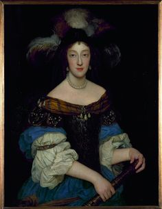 1670 Portrait of Henriette Adelaide of Savoy (Electress of Bavaria) in armour by unknown artist