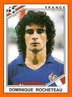 Dominique Rocheteau of France. 1986 World Cup Finals card.