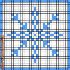 Rotated Alpha Pattern added by ponygal Beaded Cross Stitch, Modern Cross Stitch, Counted Cross Stitch Patterns, Cross Stitch Embroidery, Bead Crochet Patterns, Perler Patterns, Christmas Charts, Christmas Cross, Christmas Snowflakes