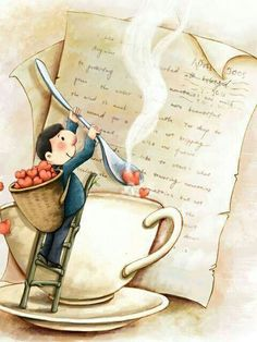 This is my Sweetie making me coffee every morning before he goes to work ~ adding in some love & writing me a sweet note ~ I am so very blessed to be married to my true soul mate!