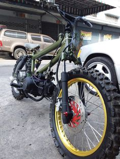 Ktm Motorcycles, Concept Motorcycles, Bobber Motorcycle, Scooter Custom, Custom Bikes, Custom Mini Bike, Motorised Bike, Bike Pic, Scooter Bike