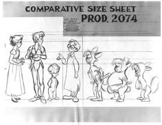 Model Sheet from Peter Pan by Milt Kahl