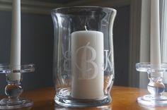 Unity Candle Holder / Hurricane Vase - Monogrammed