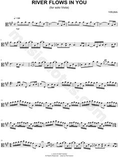 Print and download River Flows In You - Viola sheet music by Yiruma arranged for Viola. Instrumental Solo in A Major.