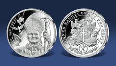 Święty Jan Paweł II - niezwykły medal pamiątkowy z czystego srebra