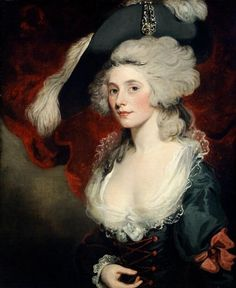 18th century, art, decolletage, elaborate, hat, painting, portrait, powdered wig, rococo, woman
