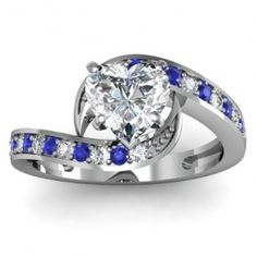 Best ideas for Heart Shaped Blue Sapphire Diamond Engagement Ring, posted on November 2013 in Wedding Jewelry Unusual Engagement Rings, Heart Engagement Rings, Jewelry 2014, Owl Jewelry, Jewellery, Sapphire Diamond Engagement, Sapphire Wedding, Wedding Jewelry, Wedding Rings