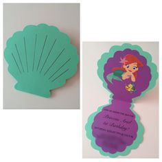 RockMeBeautiful: The Little Mermaid Birthday Party! Little Mermaid Birthday, Little Mermaid Parties, The Little Mermaid, Girl Birthday, Little Mermaid Invitations, 4th Birthday Parties, Birthday Ideas, Birthday Invitations, Handmade Invitations