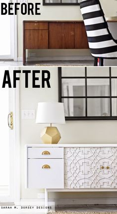 Office Credenza to Custom Credenza with Overlays