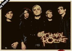 My Chemical Romance - Retro Paper Poster Wall Sticker