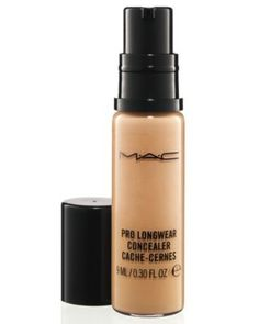 M·A·C Pro Longwear Concealer ~ The best concealer I have used and the only one I use. I use it for under eye and spot concealing. It's highly pigmented, goes on smoothly and lasts all day+. I'm an older woman with some fine lines around my eyes and this product does not cake or crease (I don't use primer). The only thing I have an issue with is the pump dispenser when the product is almost gone it doesn't dispense. So, 4 stars. Otherwise <3 ~L