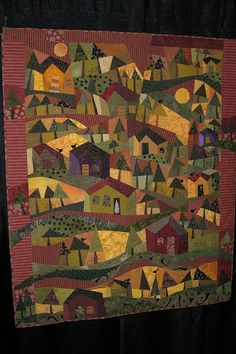 Vermont Quilt Festival, 2011.  Love the colors and layout of this scenic story quilt