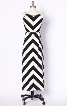 Chic Chevron Maxi-although I'd hem it up a few inches to the knee...