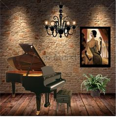 """""""GRAND PIANO"""" by irenes ❤ liked on Polyvore"""