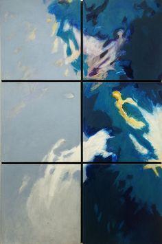 Cross-Over 2007, Acryl auf Leinwand/Holz, 81 x 121 cm (6-teilig)