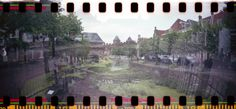 De gracht bij de Koppelpoort In Amersfoort.  Lomo Photography by Beer Wenbeek
