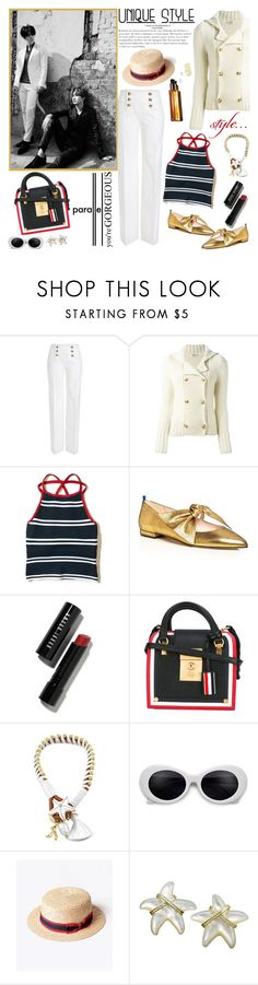 """""""Parallel......."""" by purplecherryblossom ❤ liked on Polyvore featuring Emilio Pucci, Yves Saint Laurent, Hollister Co., SJP, Bobbi Brown Cosmetics, Metropolis and Thom Browne"""