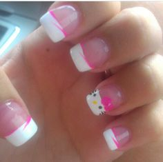 French with a hello kitty twist