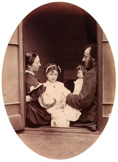 Lewis Carroll. Fine Art Photography. Sir John Everett Millais, Euphemia Chalmers Gray Millais and children. 1865.