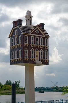One of the masterpiece bird homes by America's birdhouse designer-builder-extraordinaire:Thomas F. Burke