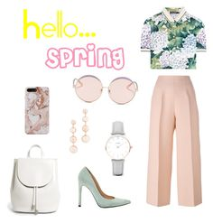 """Hello...Spring"" by charlottemcharg on Polyvore featuring Dolce&Gabbana, Fendi, Stuart Weitzman, CLUSE, Rebecca Minkoff, Everlane and N°21"