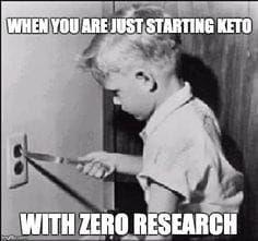 When you are just starting KETO with zero research - Funny Keto Meme -  #keto #ketodiet #ketogenic #ketogenicdiet #lol #funnymemes #diet #memes #memesdaily #memestagram #memesfunny