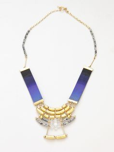cursive design sunset necklace...pour porter edition, pour porter