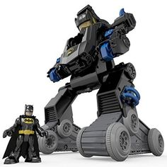 Kids Toy Games Imaginext DC Super Friends Transforming Bat Bot Rotate Arms Gift