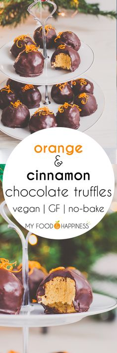 Delicious, creamy vegan Orange & Cinnamon chocolate truffles, packed with winter flavours! This vegan dessert is ideal for your Christmas Eve dinner finale! There is also a secret vegetable hidden! Can you guess what it is?