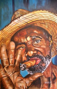 Shop Cuban Cigar Poster created by pixelartbywolf. Art And Illustration, Cigar Art, African American Artist, American Artists, Caribbean Art, Cuban Cigars, Guy Drawing, Arte Pop, Black Art