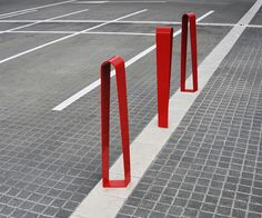 Bollards need not be boring. Vic bollard by Citysi can double as a bike rack.