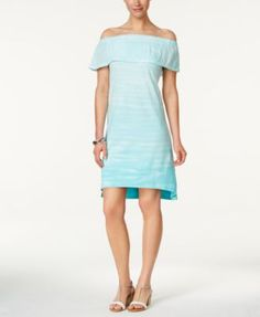 Style & Co Tie-Dyed Ruffled Dress, Only at Macy's | macys.com