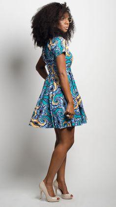 Von Me Dress in Turks and Caicos ~ African fashion, Ankara, kitenge, Kente, African prints, Braids, Asoebi, Gele, Nigerian wedding, Ghanaian fashion, African wedding ~DKK