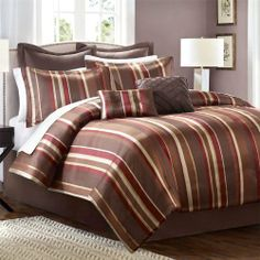 "Avenue 8 Alexandria 6 Piece Comforter Set - Red/Choc - Twin by Avenue 8. $55.99. Set Includes: 1 Comforter, 1 Sham, 1 Euro Sham, 1 Bedskirt, 2 Pillows. For an opulent look to your bedroom, the Alexandria bed set will update your bedroom with warm reds. Material: Polyester. Size: Twin: 66x86""/20x26+2""(1)/39x75+15""/16x16""/12x16""/26x26+2""(1). Patten: Jacquard. For an opulent look to your bedroom, the Alexandria bed set will update your bedroom with warm reds and browns. Made from..."