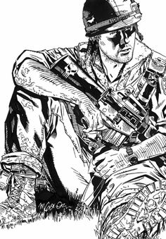 Ed Marks from The 'Nam by Michael Golden
