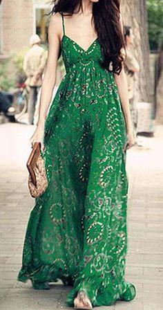 Printed maxi boho dress. For more follow www.pinterest.com/ninayay and stay positively #pinspired #pinspire @ninayay