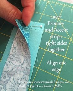 Karen's Quilts, Crows and Cardinals: Tutorial - Mitered and Flanged Machine Binding Quilting For Beginners, Quilting Tips, Quilting Tutorials, Machine Quilting, Quilting Designs, Sewing Tutorials, Sewing Hacks, Sewing Projects, Quilting Projects