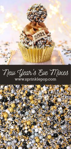 2020 has been...a year. But we're almost through it, and we're hoping that 2021 will be brighter for everyone! And what better way to kick things off than with a fun new collection of sprinkles. Am I right??    #newyears #nye #sprinkles #baking #recipe #desserts #colorful #happynewyear New Year's Desserts, White Desserts, Blue Frosting, Oreo Cake, Wafer Paper, New Years Eve, Nye, Rainbow Colors, Sprinkles