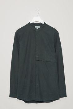 COS | Grandad-collar shirt with hidden pocket