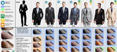 This is an easy to follow guide to matching suits with shoes. It will Obliterate the stress of doing this forever.